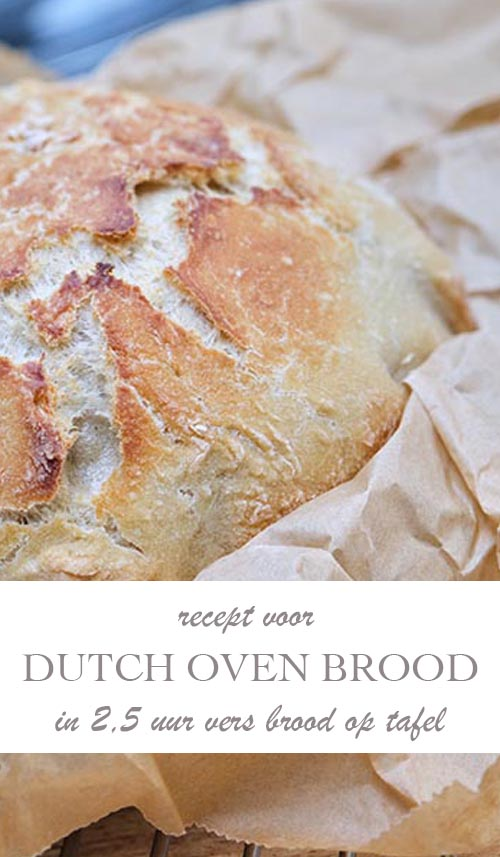 Dutch Oven brood recept: in 2,5 uur vers brood op tafel - AllinMam.com