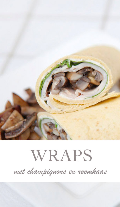 Wraps met champignons en roomkaas - AllinMam.com